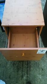 Pine drawers - filing bedside office storage