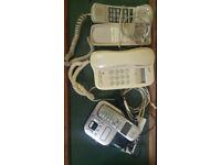 Desk-top telephones.
