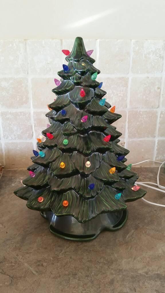 vintage ceramic light  christmas tree  ashburton devon gumtree
