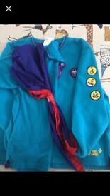 East Lothian Beaver's jumper, polo shirt, necker and woggle