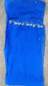 Indian blue suit with gold embroidery