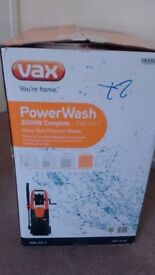 For Sale Vax 2500w Complete Pressure Washer***Collection Only***