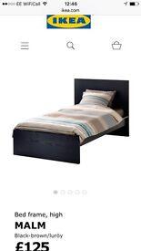 Ikea MALM 2 single beds in Oak finish