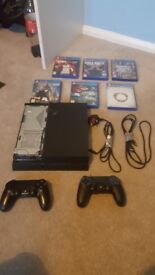PS4 2 Controllers and 6 Games With Cables