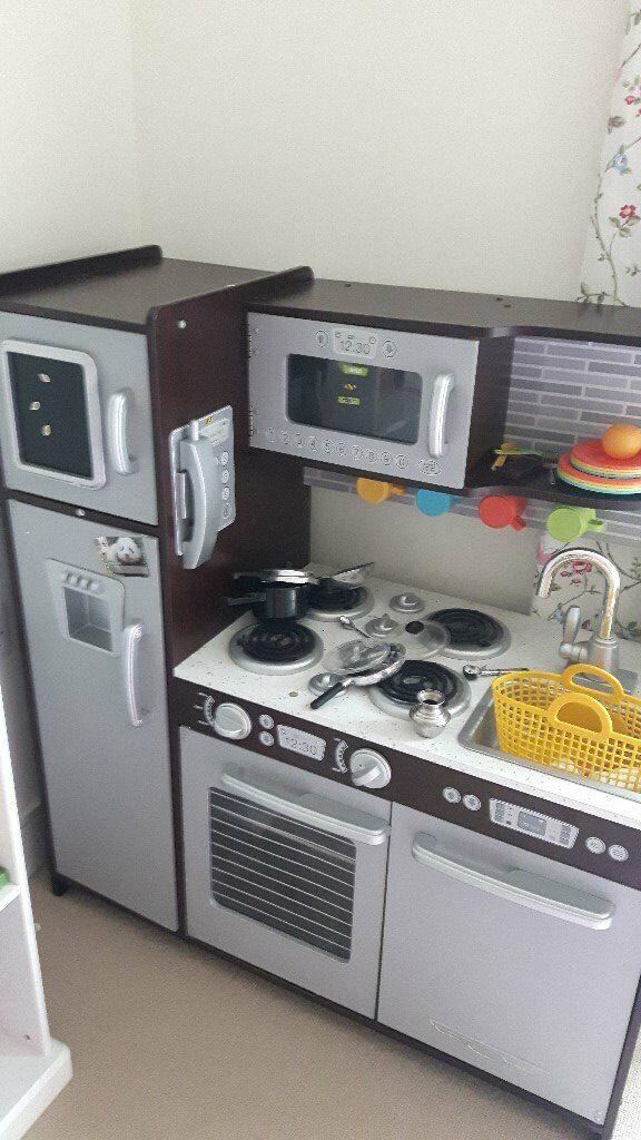 Play Kitchen - KidKraft 53260 Uptown Espresso Wooden Pretend Play Toy  Kitchen for Kids   in Kingston, London   Gumtree