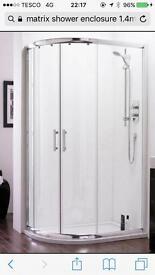 Large quadrant shower cubicle 1.2m by 900mm