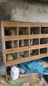 Plywood shelving and pigeon holes to suit ford transit