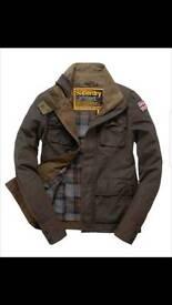 Men's Superdry Vintage wax style jacket, XL