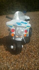 Kids Ride On Bike Police Style Child Electric Motorbike 6V Battery