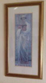 Framed print of Grecian/Roman lady reading