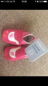 Jojo maman bebe leather baby shoes 6-12months