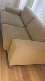 Gorgeous Large Two Seater Sofa & Foot Stall For Sale