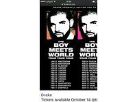 Drake concert in Amsterdam 26th.l February