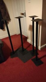 4 Gale surround speakers stands