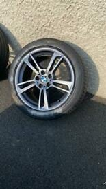"19"" genuine bmw alloy wheels x5 fit old shape vivaro"
