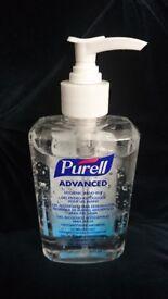 Purell Alcohol Based Hand Rub Gel Sanitiser Pump Bottle - 300ml Tattooists, nursing, child care
