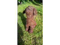 Dog figure garden ornament