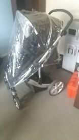 britax b smart buggy with rain cover