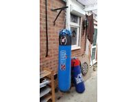 2 punch bags and wall fixing bracket