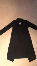 Women's coat black waterfall size 6 tagged