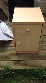 Near New Heavy Bedside Cabinet/ Table