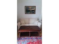 *** Beautiful Large 3 Seater John Lewis Sofa - Cream Fabric***