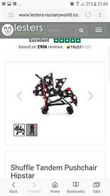 Double buggy cosatto shuffle tandem