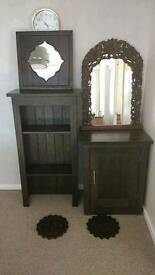 REDUCED TO GO this weekend! Dark wood furniture, mirrors and wall art
