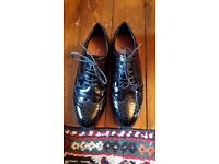 Ladies patent shoes. Size 7. Wide fit. As new.