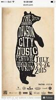Dawson city music festival weekend pass