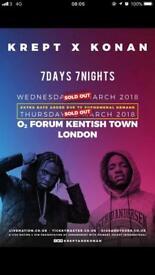 Krept and Konan Tickets Thursday 22nd March