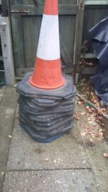 10 heavy duty road cones plus 8 signs