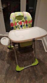 Chicco folding high chair £20