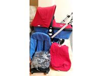 Bugaboo Cameleon. blue & red