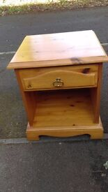 Solid pine bedside chest, dovetail joints