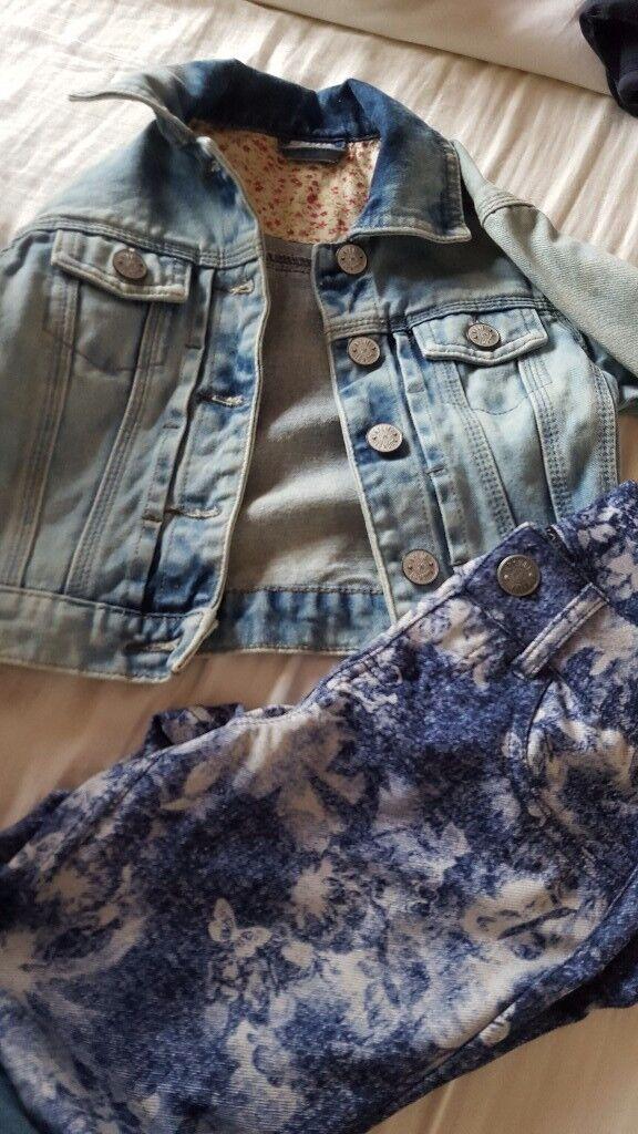 Denim jacket and leggings