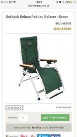 Outback deluxe recliner garden chairs bnib