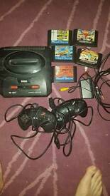 Sega mega drive with games