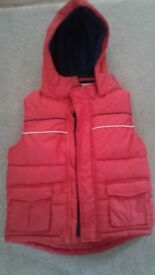 2 x Padded Quilted Near new Body Warmers - Great for sunny Winter days