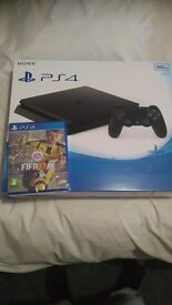 Brand new ps4 500gb unopened in the box still along with fifa 17 disc still in its original packet