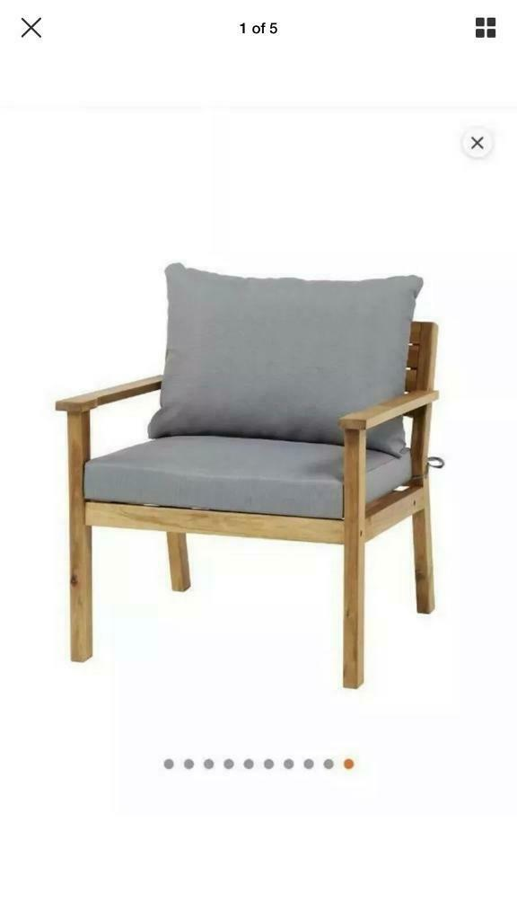 Pleasing Bq Solid Acacia Wood Denia Garden Chair In Craiglockhart Edinburgh Gumtree Creativecarmelina Interior Chair Design Creativecarmelinacom