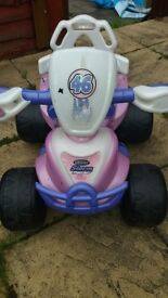 Rechargeable battery operated quad bike