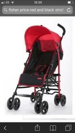 Fisher-Price stroller from birth - black and red - used