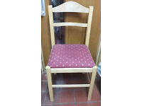 4 Good Condition Wooden Chairs with Cushion