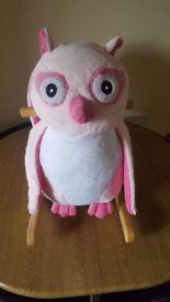 Rock my baby pink owl rocker