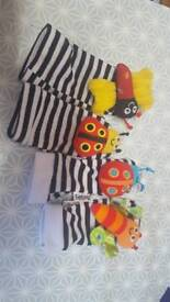 Lamaze hand and foot gloves rattles