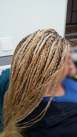European hair extensions/Weaves/ Box Braids/Afro hairdresser/Pick & drop/Cornrows