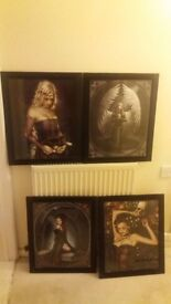 gothic photos in frames good condition