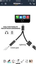 Lightning adapter for dual function