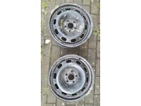 2 Steel wheels off mk1 Seat Leon 110 tdi